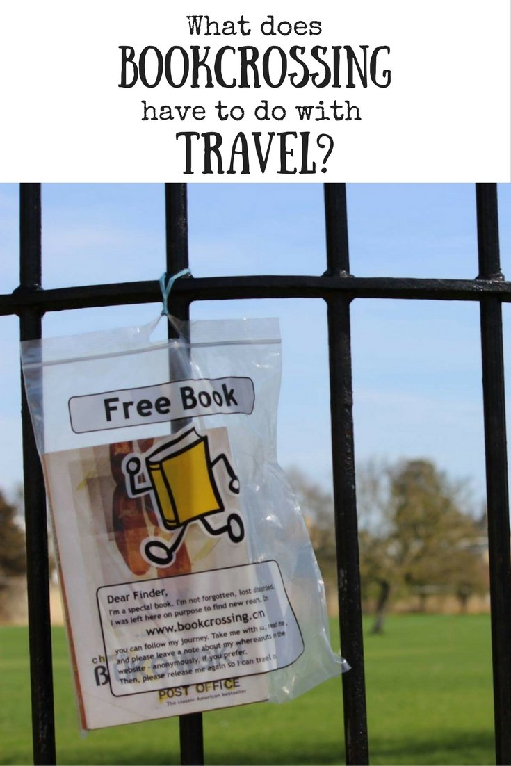 What does it have to do with travel pin image. Book hanging on fence