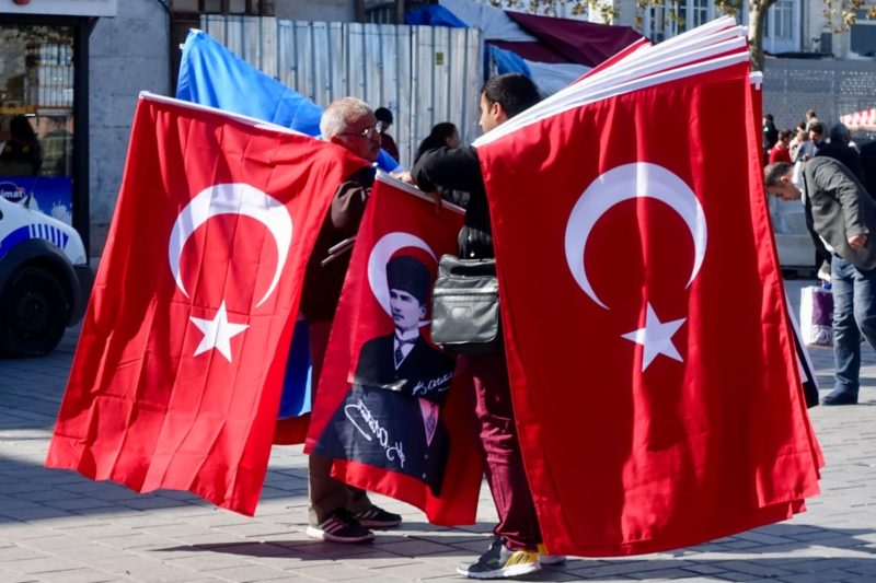 Turkish flag vendor, Istanbul