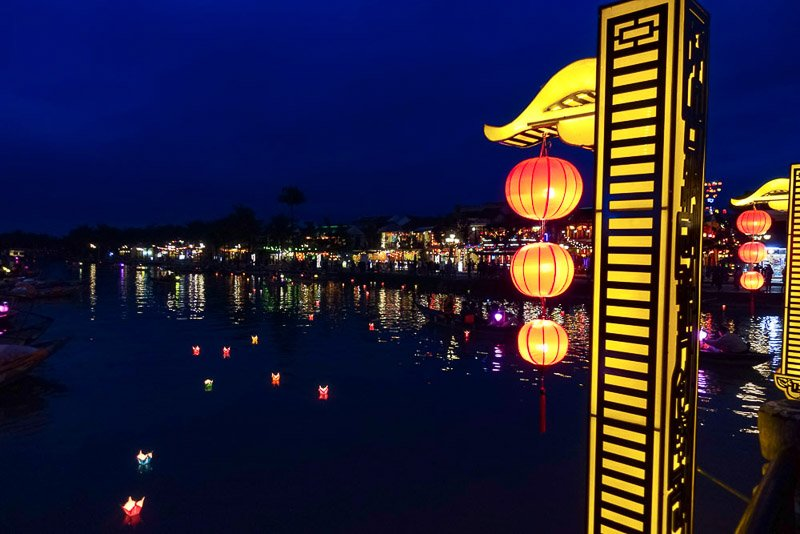 Hoi An Bridge at night