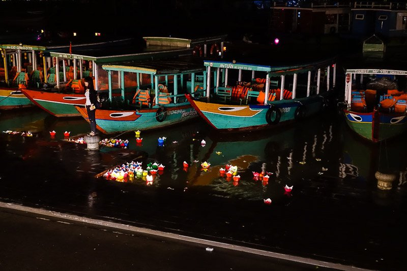 Hoi An boats at night