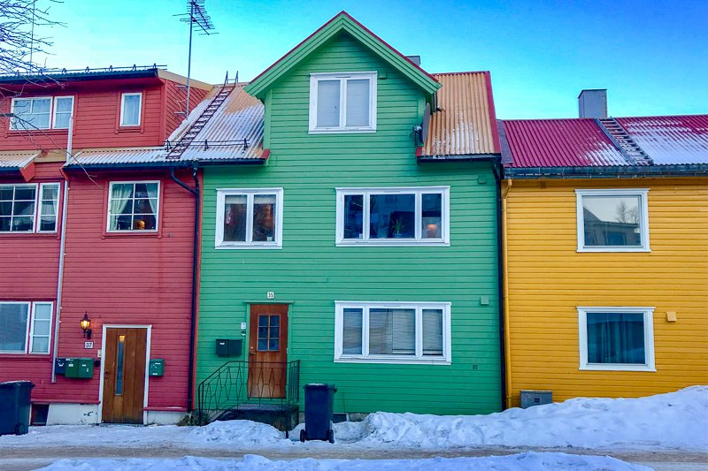 Tromso colourful houses