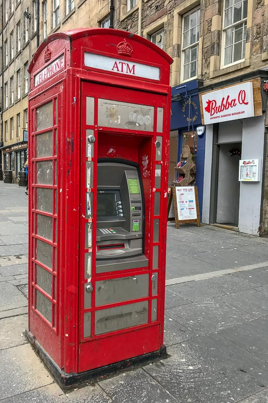Red Telephone Box Edinburgh