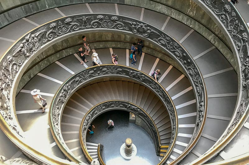 Vatican Museums stairs