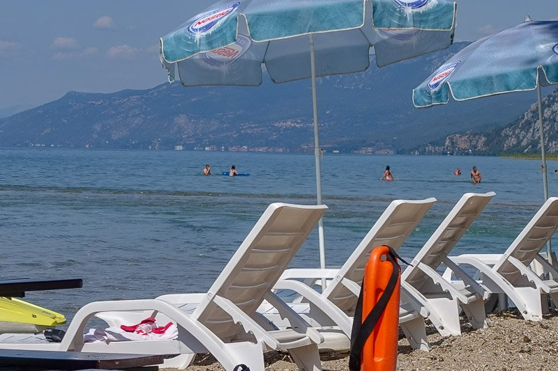 St Naum beach chairs