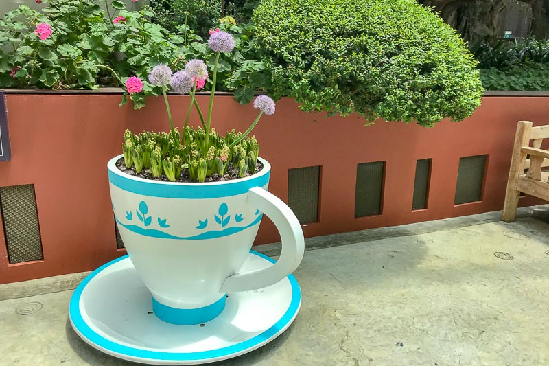 Flower Dome Tea Cup