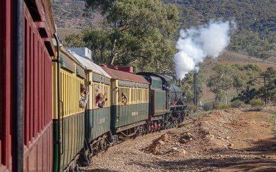 Riding the Pichi Richi Railway in Quorn South Australia