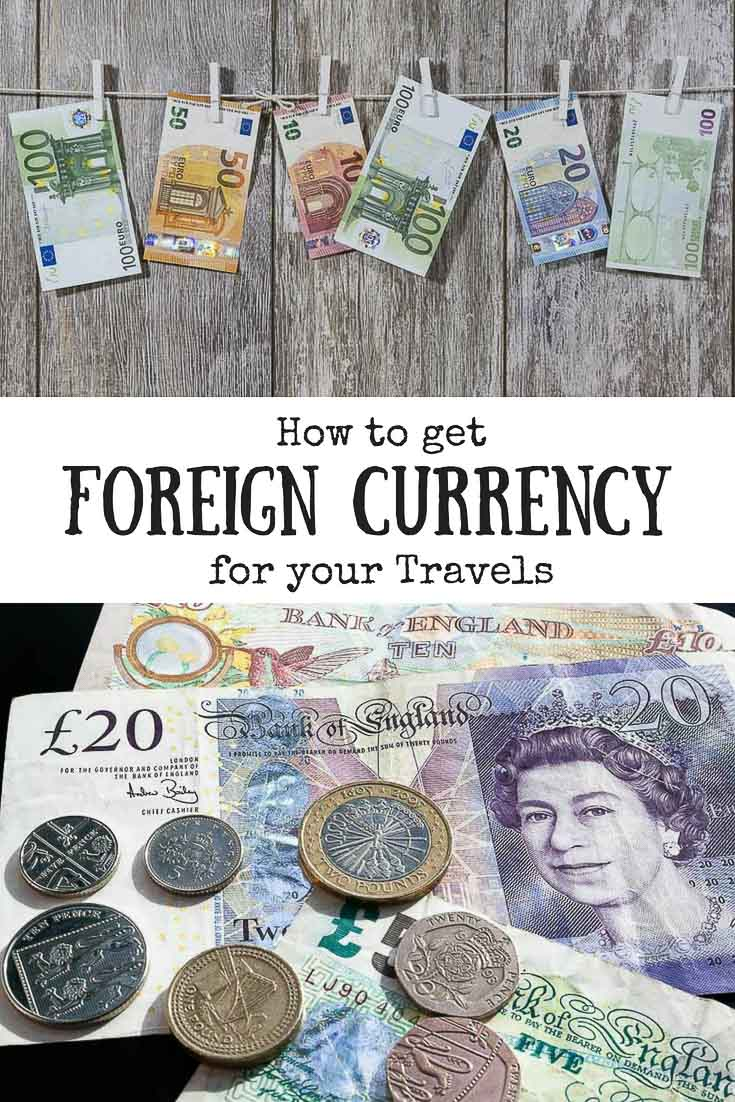 How to get foreign currency for your travels pin image
