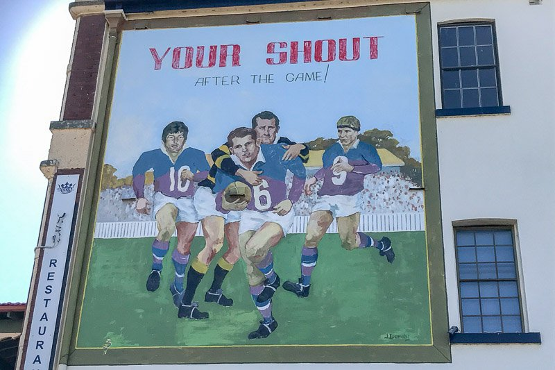 Kurri Kurri Football mural