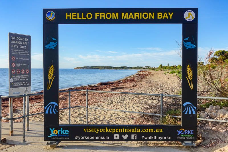 Marion Bay Sign