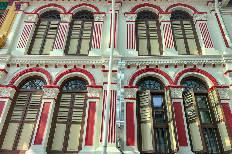 I love the Singapore shophouses