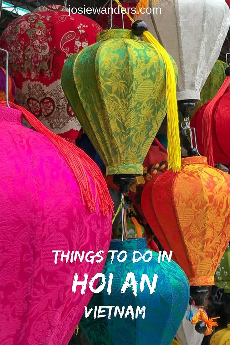 The town of Hoi An in central Vietnam is very popular. But what are you going to do once you get here? This post gives 15 ideas of things to do in Hoi An | #travel #hoian #vietnam
