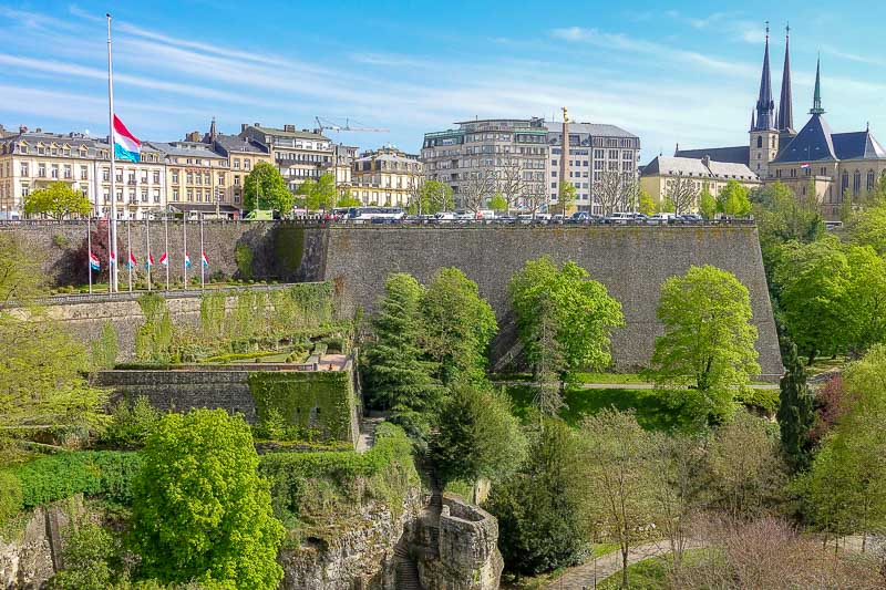 Luxembourg City from the Adolphe Bridge