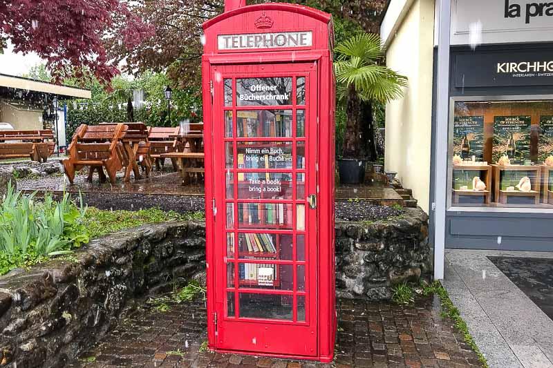 Interlaken Book Swap Phone Booth