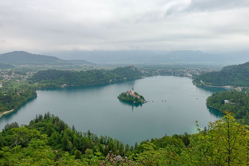 Lake Bled from Malo Osojnica