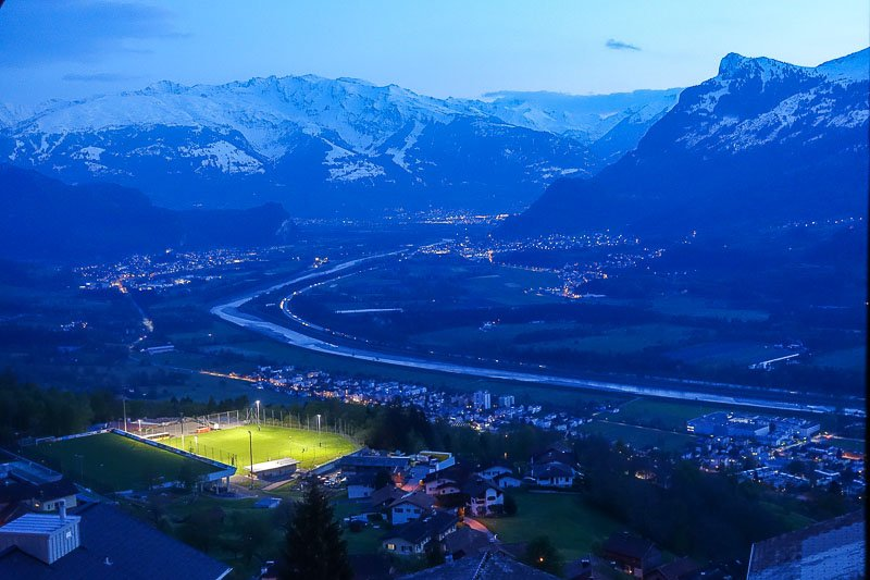 Liechtenstein Nightime View