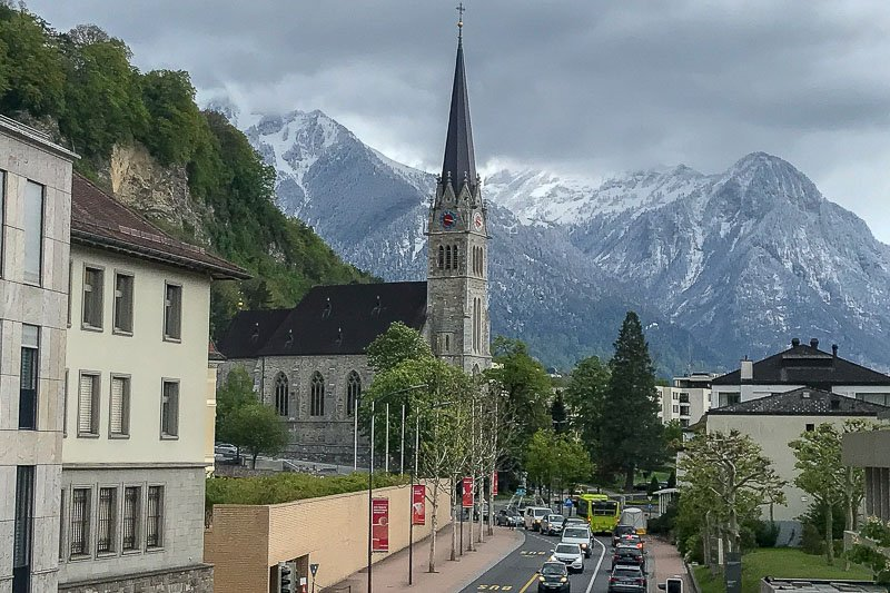 Vaduz Cathedral View