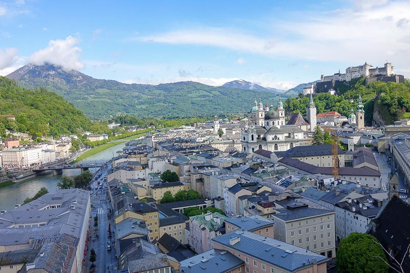 Salzburg view from Monschburg Lift